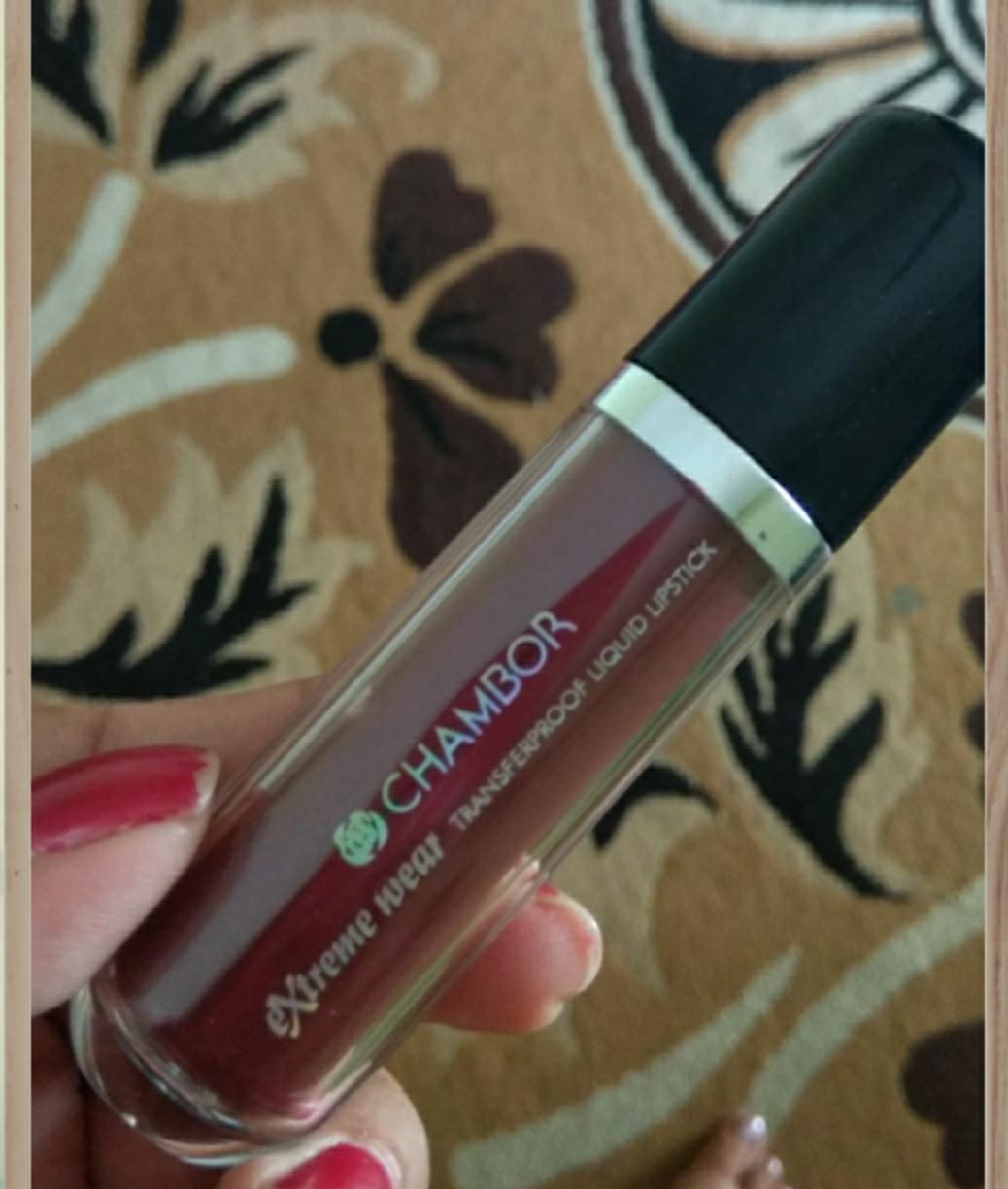Chambor Extreme Wear Transferproof Liquid Lipstick-Long Lasting Creamy Matte Liquid Lipstick-By ankita_agarwal