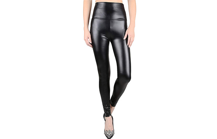 jntworld, Women's Stretchy Faux Leather Leggings Pants