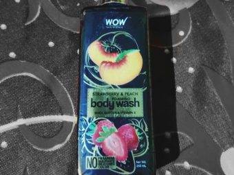 WOW STRAWBERRY AND PEACH BODY WASH -Amazing product. Who doesnt want their body to smell good and be left with soft skin.-By aish2303