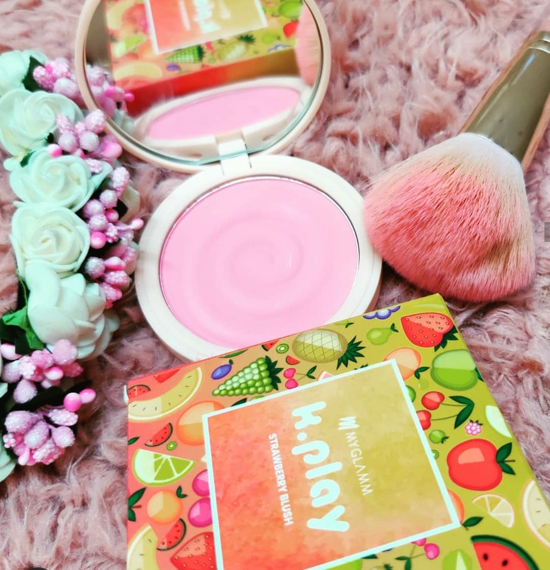 MyGlamm K.PLAY FLAVOURED BLUSH – JUICY STRAWBERRY-Its a beautiful shade-By shopaholic_adventures