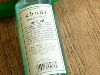Khadi Natural Tulsi Herbal Hair Oil -Herbal tulsi hair oil-By vanitylove