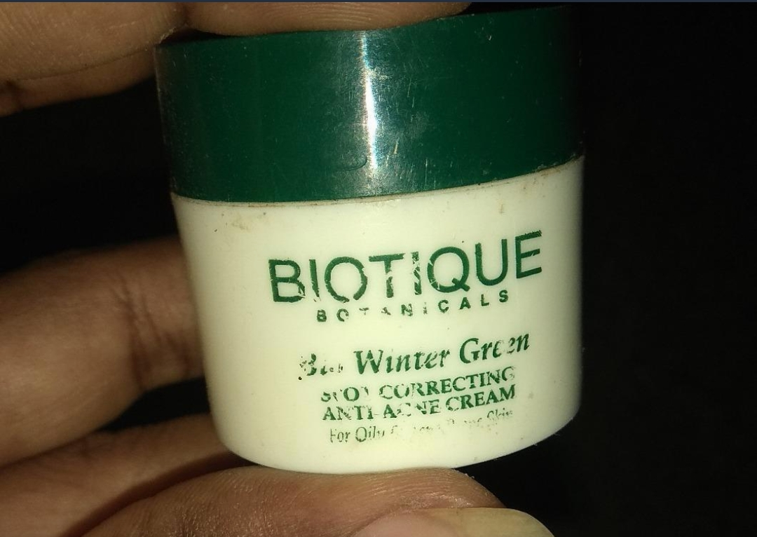 Biotique Bio Winter Green Spot Correcting Anti Acne Cream-Not that good-By sanna-3