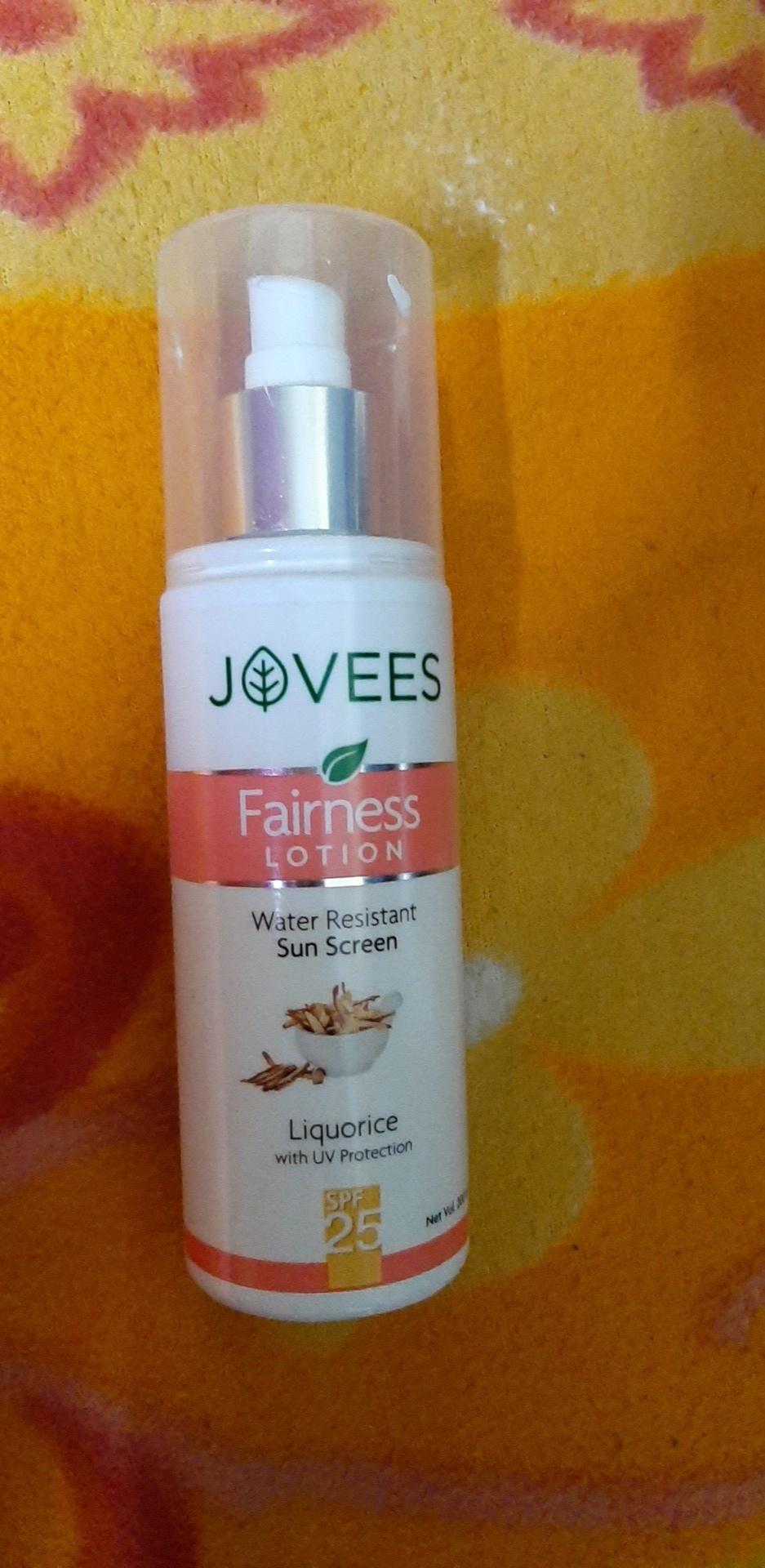 Jovees Water Resistant Sunscreen Fairness Lotion -Jovees fairness lotion-By simranwalia29