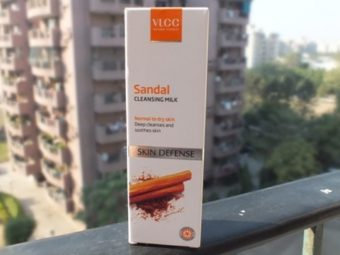 VLCC Skin Defense Sandal Cleansing Milk -ideal for makeup removal and healing-By fashionalaya_