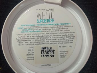 Maybelline New York White Super Fresh Compact pic 2-Super fresh…the name says it all-By nimmythomas35
