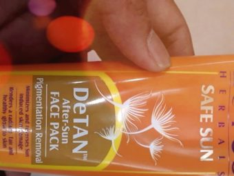 Lotus Herbals Safe Sun De-Tan After Sun Face Pack pic 1-Detans well-By manju_