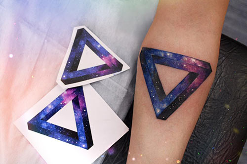 3D Triangle Tattoo