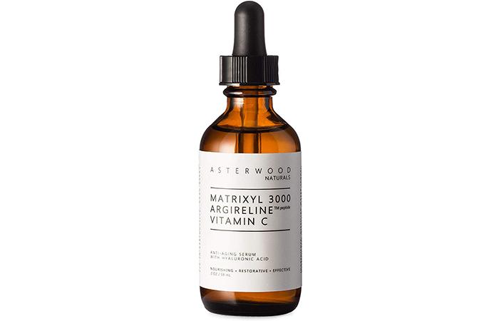Asterwood Naturals Matrixyl 3000 with Argireline Peptide and Vitamin C Anti-Aging Serum