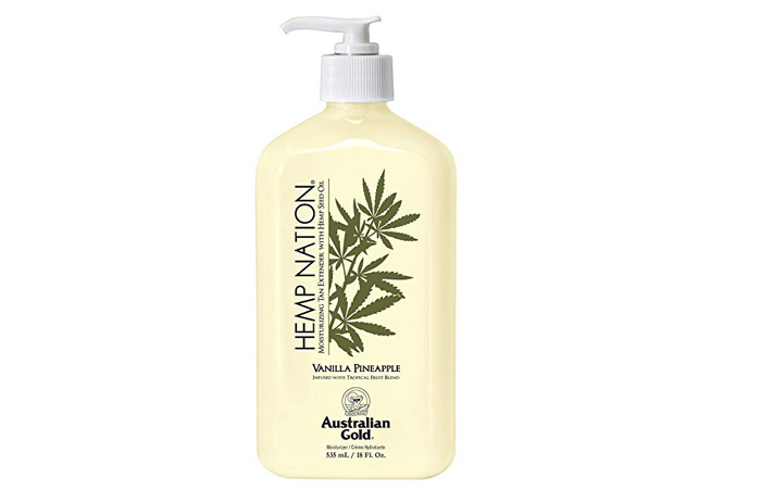 Australian Gold Vanilla Pineapple Hemp Moisturizing Tan Extender Lotion