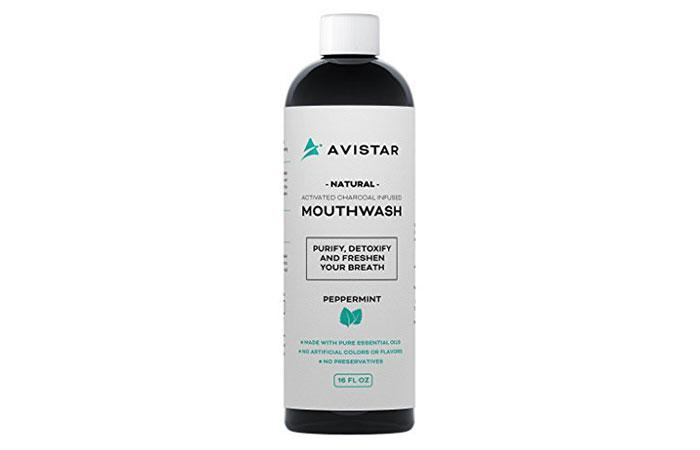 Avistar Natural Activated Charcoal Mouthwash