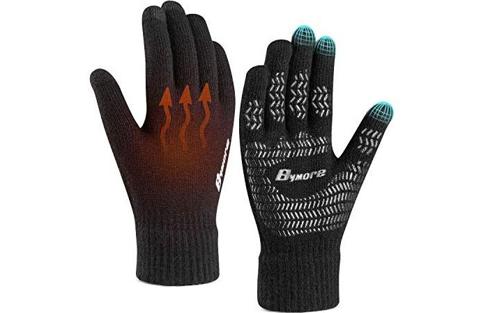 BYMORE Elastic Knit Gloves Winter Gloves For Men And Women