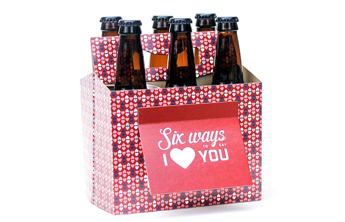 Beer Greetings Six Pack Greeting Card Box