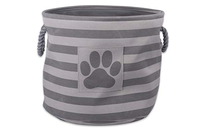Bone Dry DII Small Round Pet Toy and Accessory Storage Bin