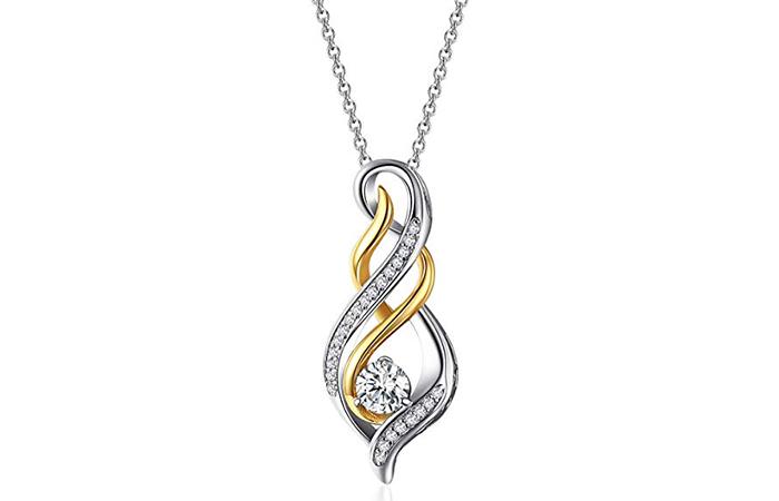 Caperci Sterling Silver Diamond