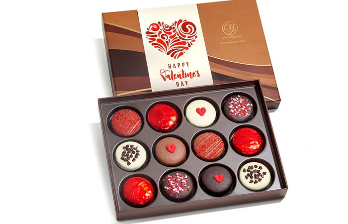 Chocolate Covered Love Oreos With Valentine Sleeve