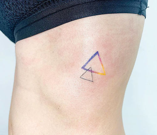 Cool Triangle Tattoo