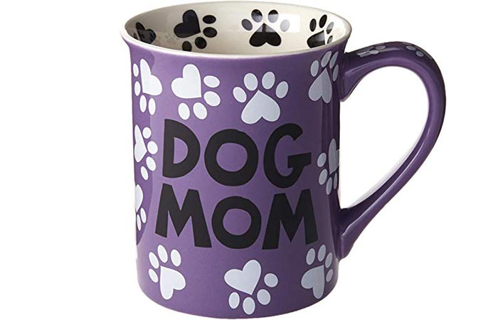 Dog Mom Stoneware Mug