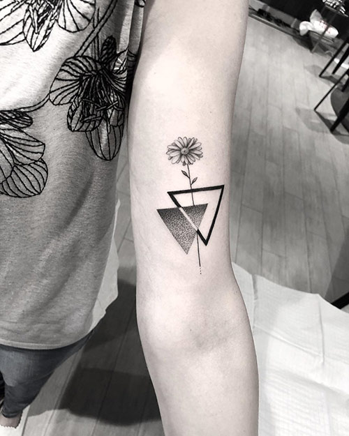 Double Inverted Triangle Tattoo