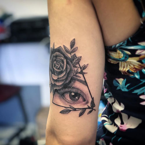 Eye With Triangle Tattoo