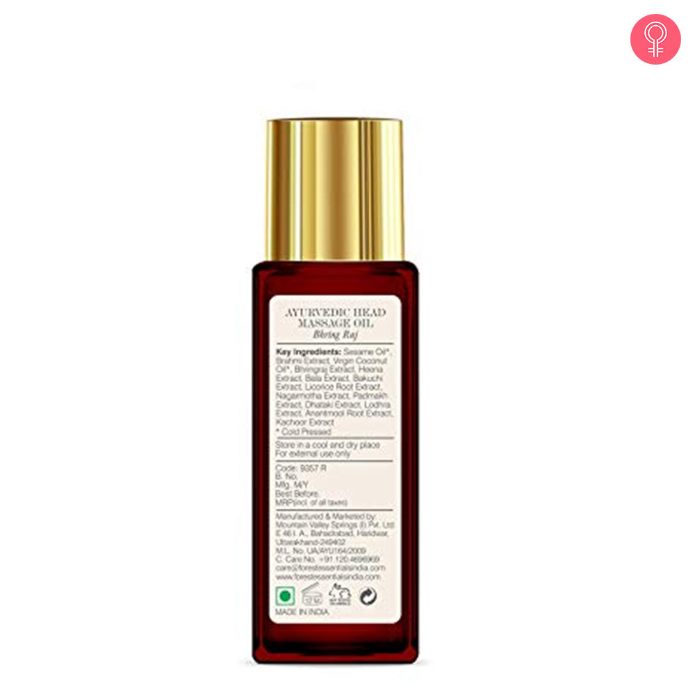 Forest Essentials Bhringraj Ayurvedic Head Massage Hair Oil