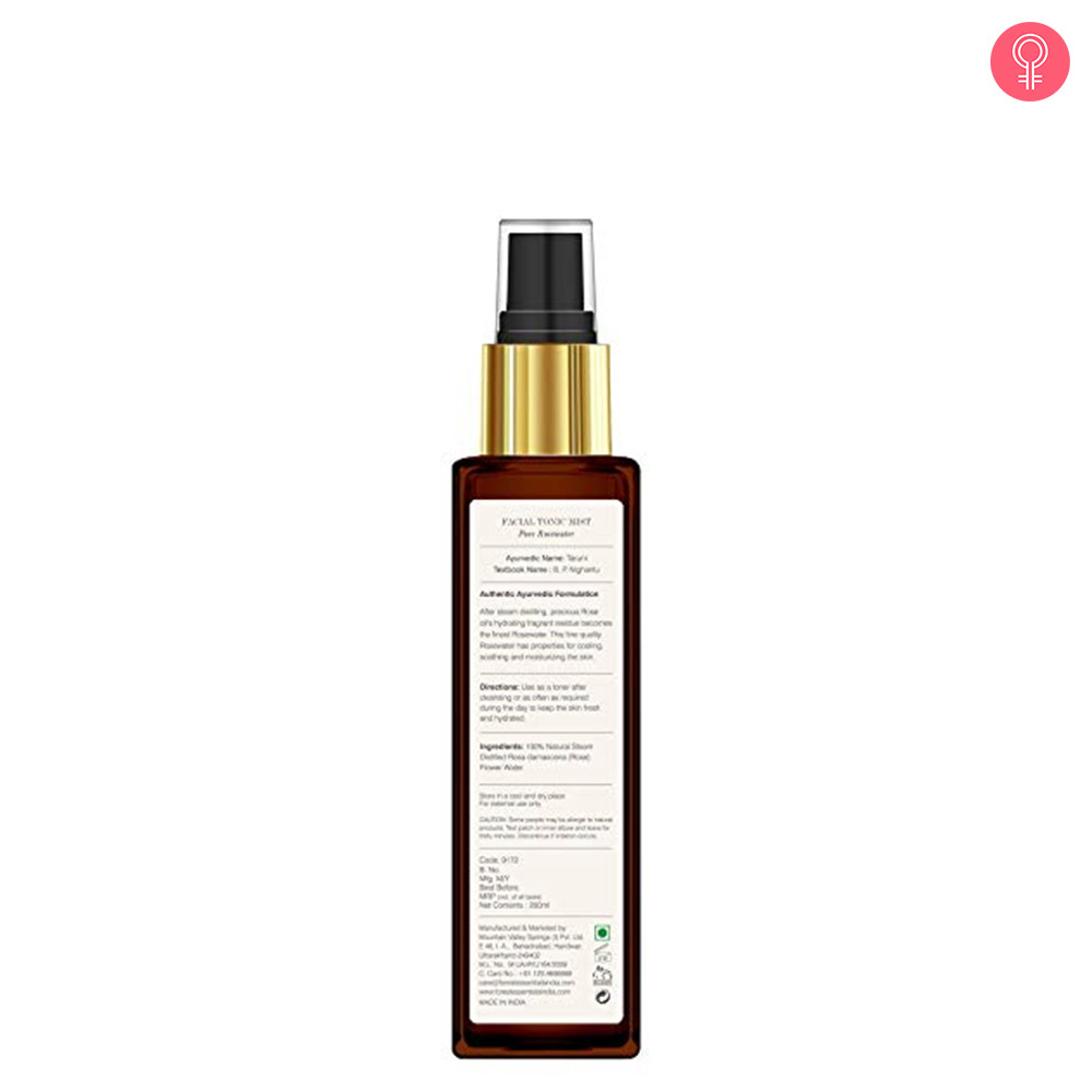 Forest Essentials Facial Toner Pure Rosewater