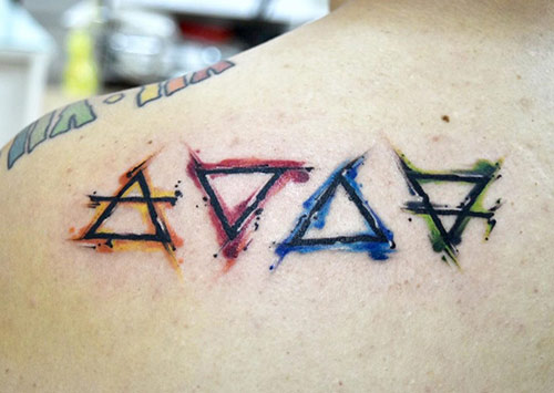 Four Triangles Tattoo