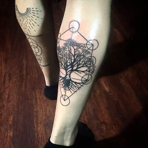 Geometrical Tree Of Life Tattoo