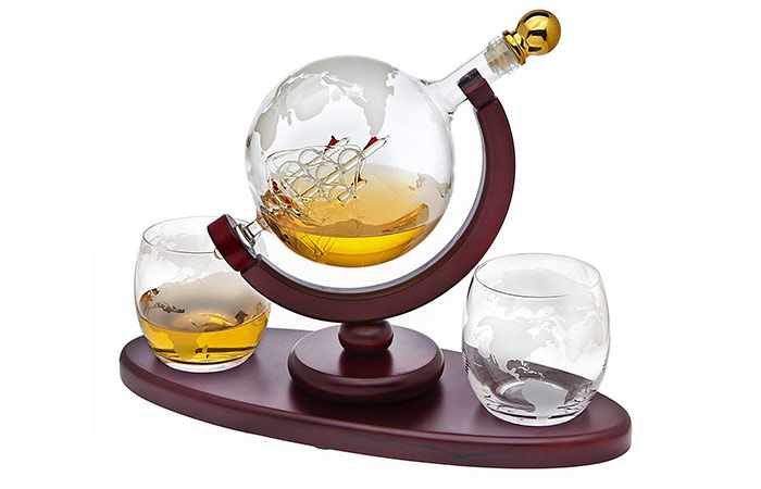 Godinger Globe Whiskey Decanter