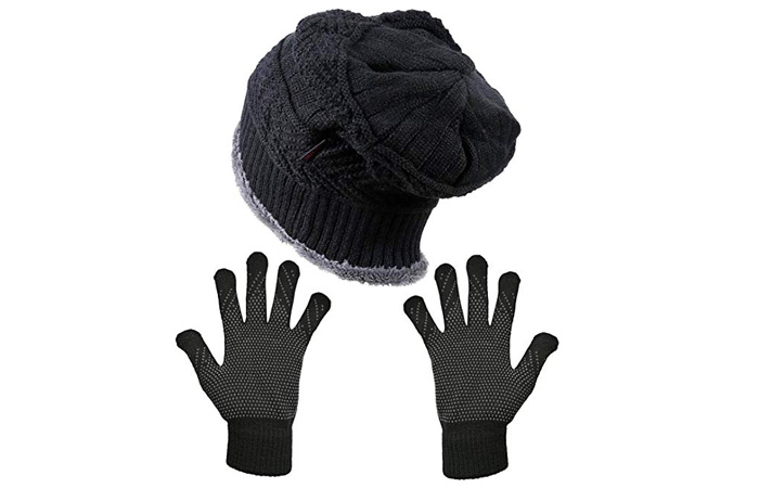 HINDAWI Winter Slouchy Beanie Gloves For Women
