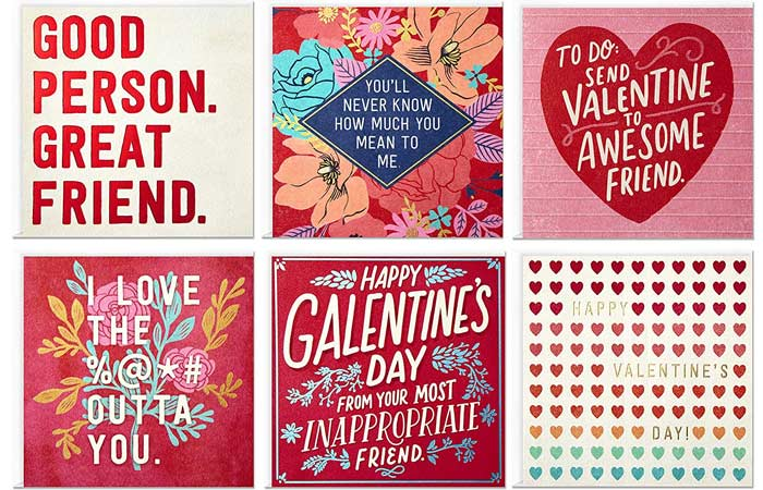 Hallmark Studio Ink Valentines Day Cards Assortment for Friends