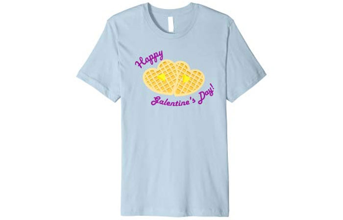 Happy Galentine's Day Funny Waffle T-Shirt