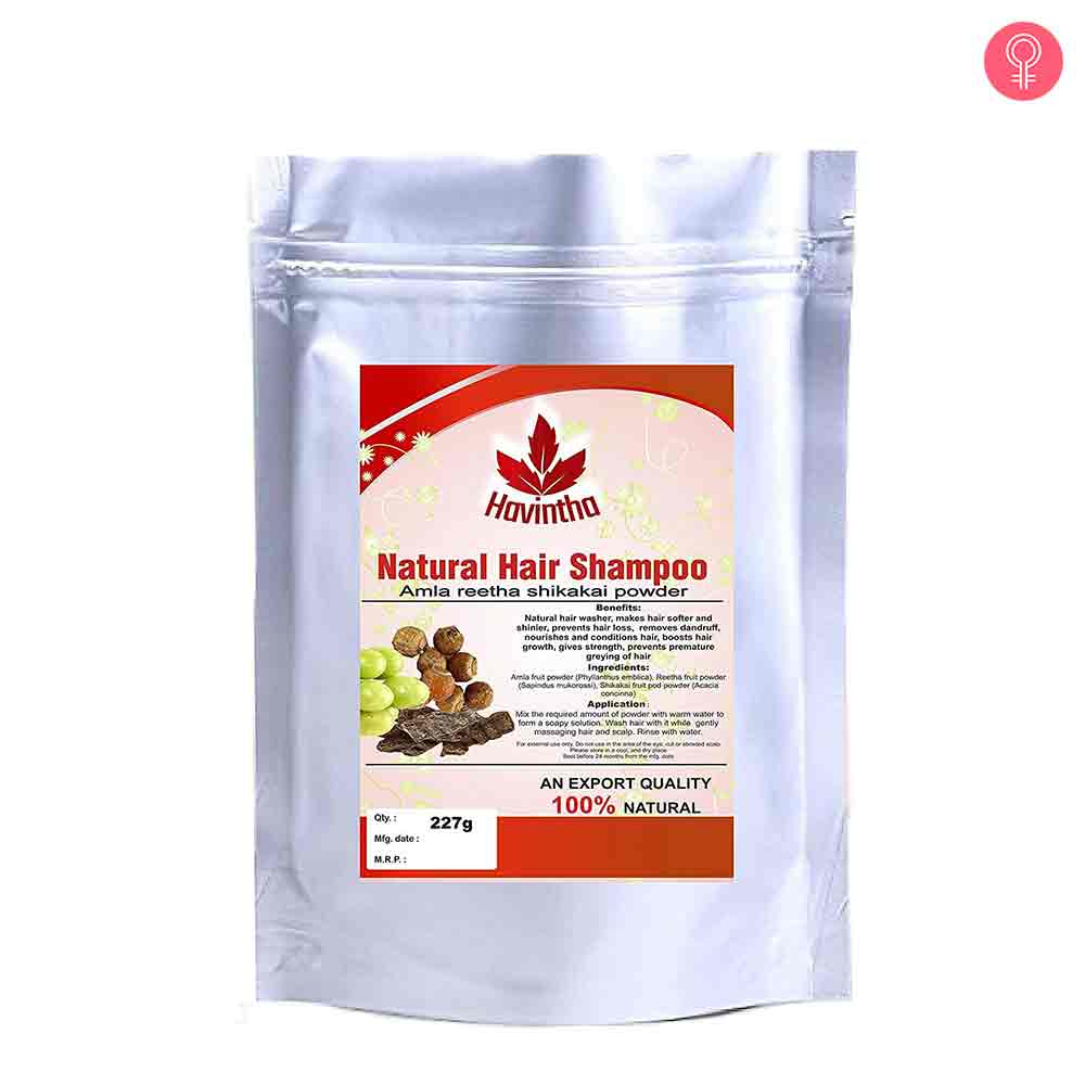 Havintha Natural Hair Shampoo With Amla Reetha And Shikakai Powder