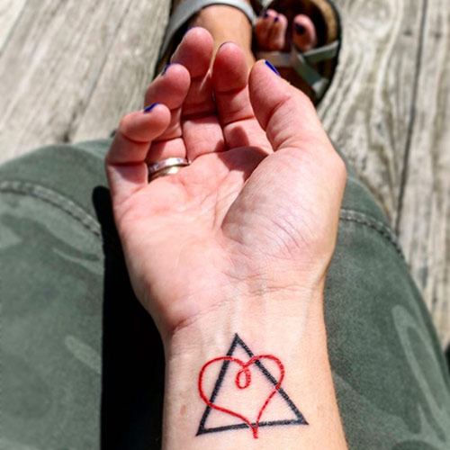 Heart Triangle Tattoo