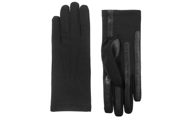 Isotoner Women's Spandex Gloves With Warm Fleece Lining