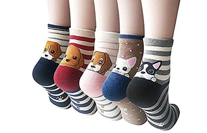 Jeasona Women's Cute Animals Socks for Girls