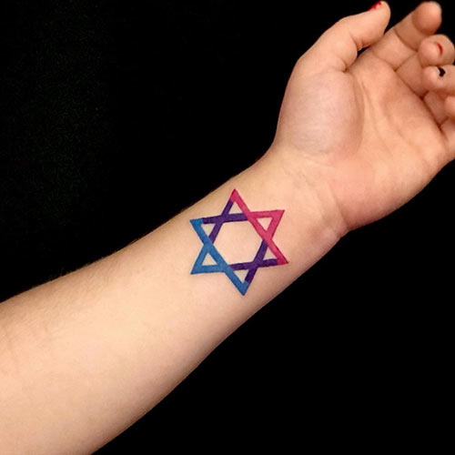 Jewish Triangle Tattoo
