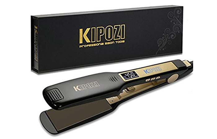 KIPOZI Professional Titanium Flat Iron Straightener For Hair