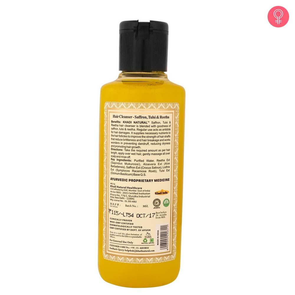 Khadi Natural Saffron, Tulsi And Reetha Shampoo