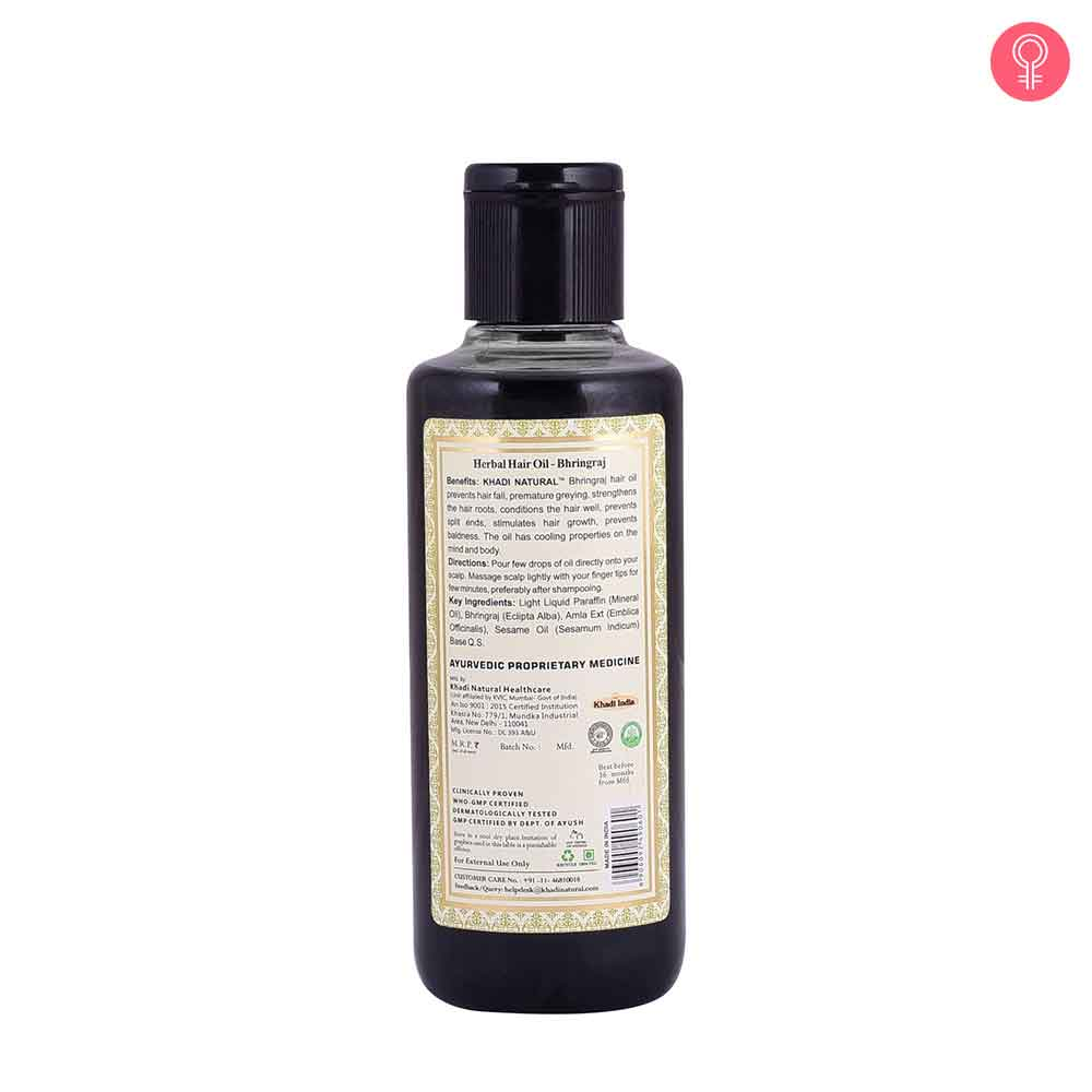 Khadi Natural Bhringraj Herbal Hair Oil-1