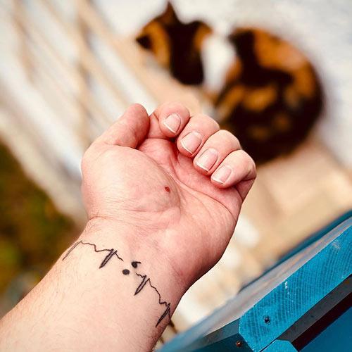 Lifeline Semicolon Tattoo