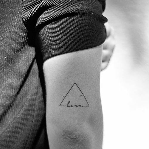 Love Triangle Tattoo