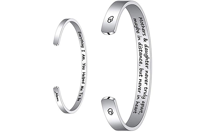 M Mooham Bracelet With An Engraved Quote