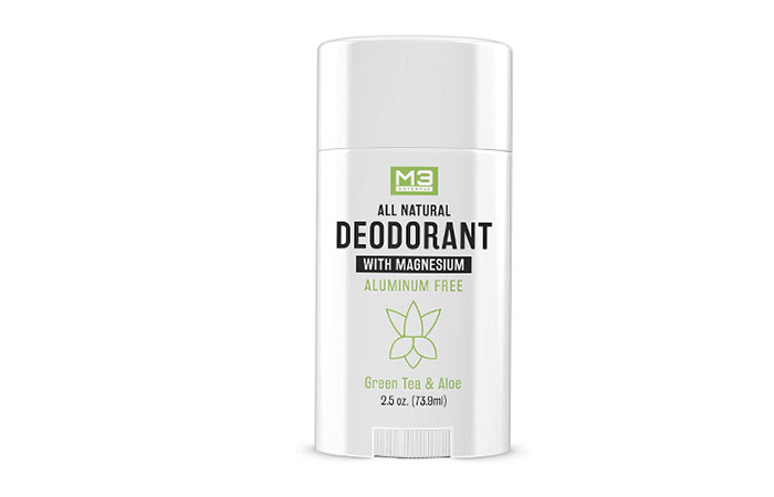 M3 All Natural Deodorant With Magnesium Green Tea and Aloe