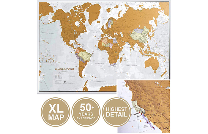Maps International Scratch The World Travel Map
