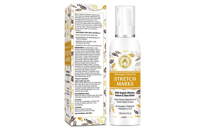 Mom and World massage lotion for stretch marks