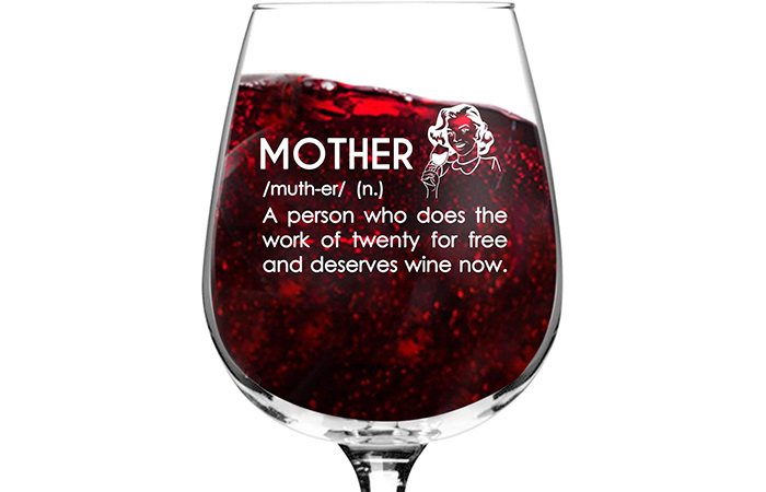 Mother Definition Funny Wine Glass