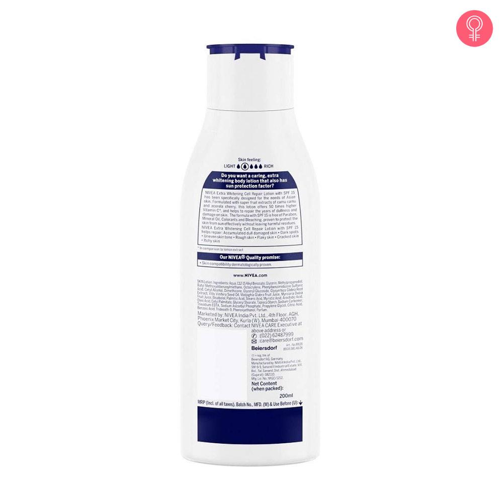 Nivea Extra Whitening Body Lotion