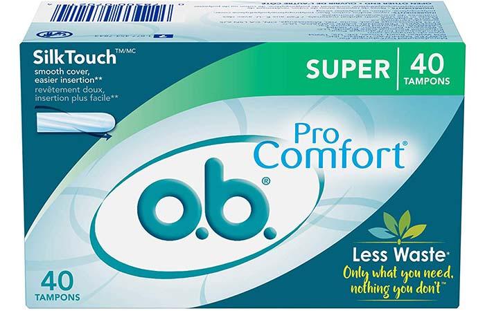 O.B. Pro-Comfort Non-Applicator Tampons
