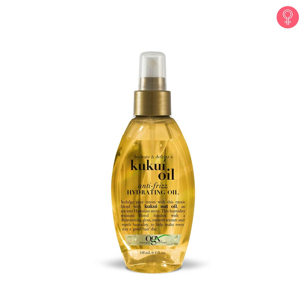 OGX Hydrate + Defrizz Kukui Oil Anti-Frizz Hydrating Oil