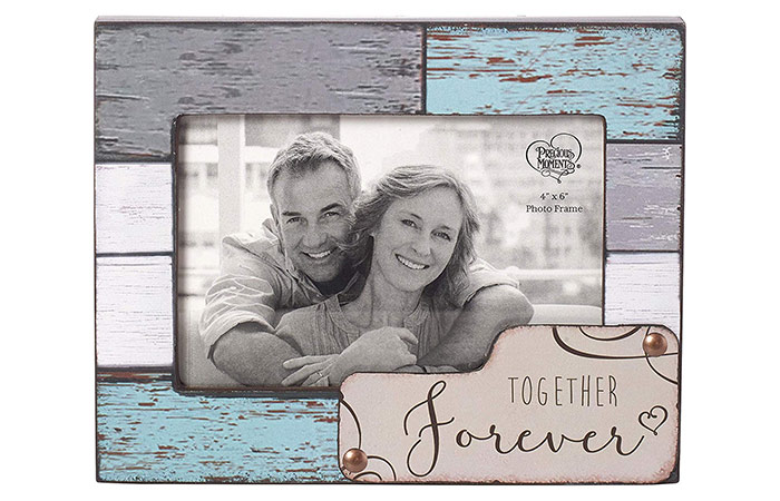 Precious Moments Farmhouse Decor Together Forever Wood Photo Frame
